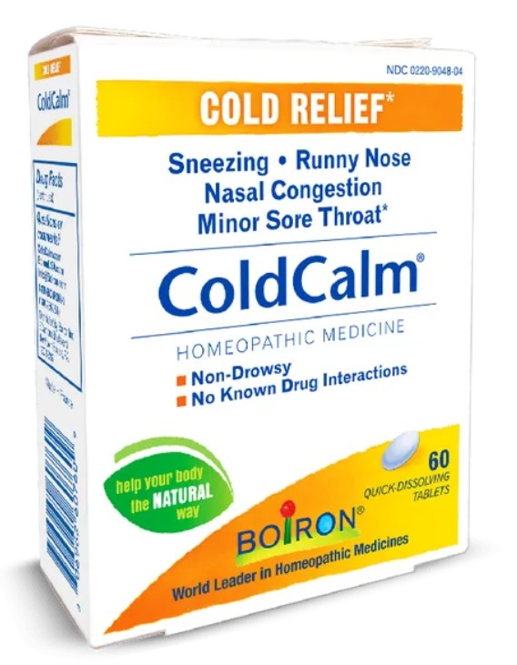"""A box of Boiron's ColdCalm brand homeopathic """"cold relief"""" product"""