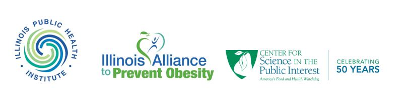 Illinois Public Health Institute, Illinois Alliance to Prevent Obesity, and CSPI logos