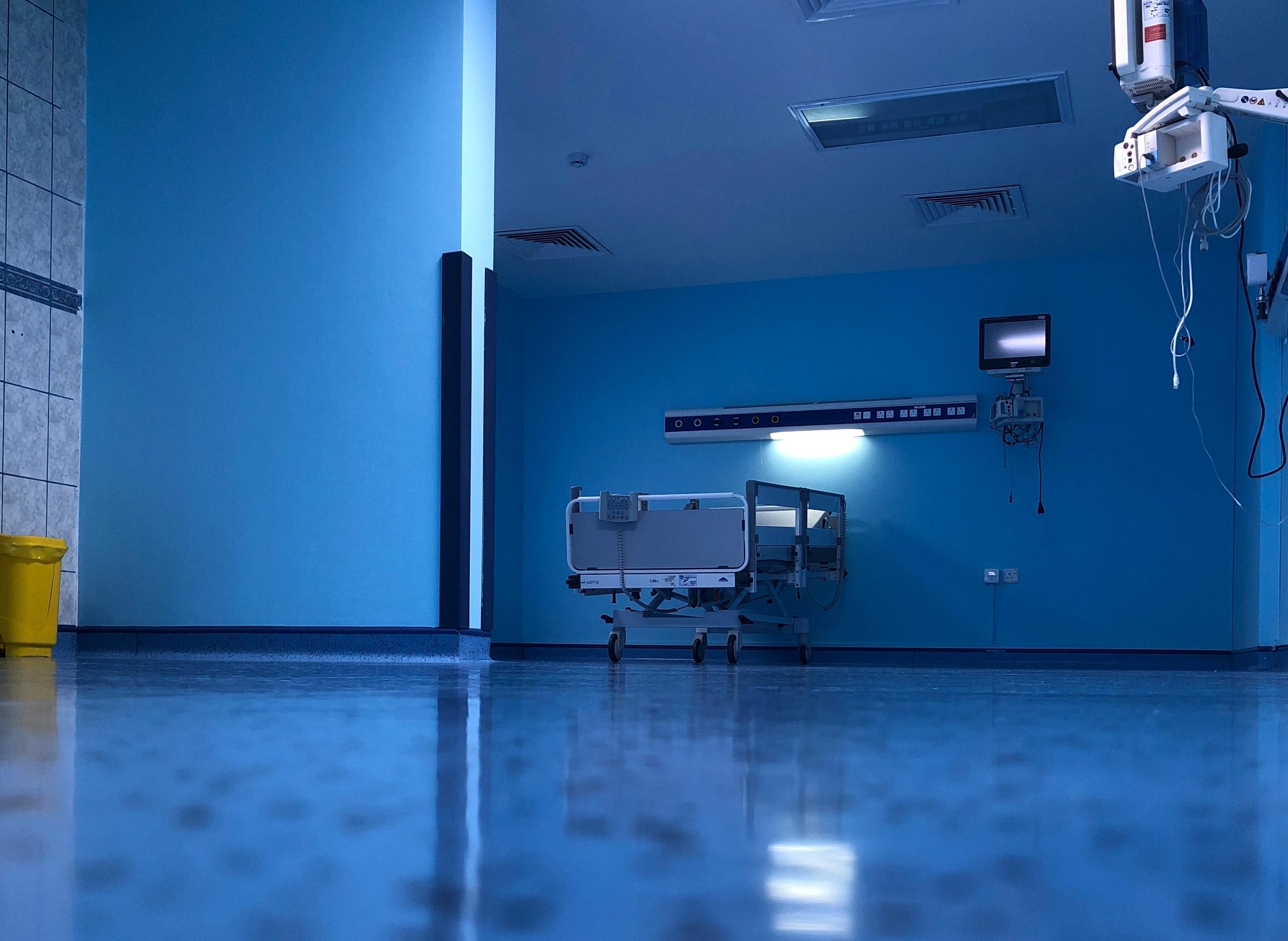 An empty hospital floor
