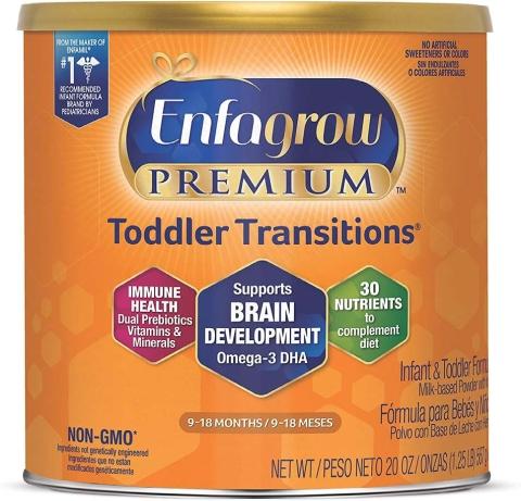 "Enfagrow's ""premium toddler transitions"" product."