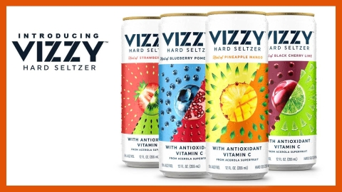 A promotion for the Vizzy hard seltzer product line