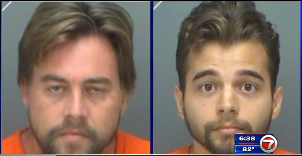 Mug shots of two men